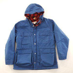 Vtg LL Bean Fleece Lined Hooded Jacket Coat